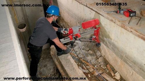 perforaciones concreto broca diamante  perforadora renta