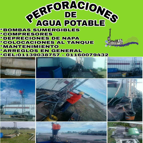 perforaciones de agua potable.