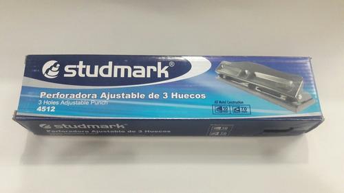 perforador abre 3 huecos studmark ajustable   por 2 unidades