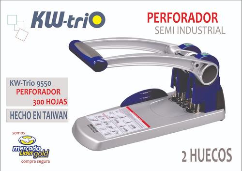 perforador semi industrial para 300 hojas kwtrio 9550