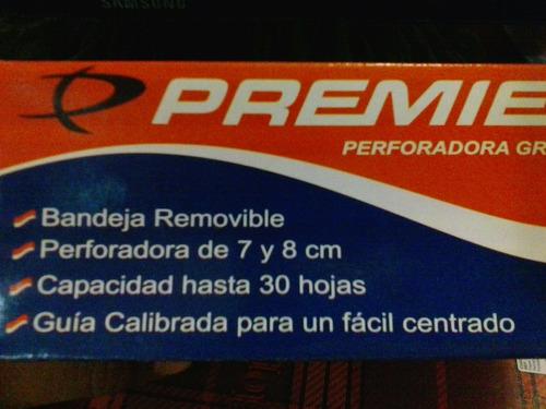 perforadora - 2 huecos marca premier