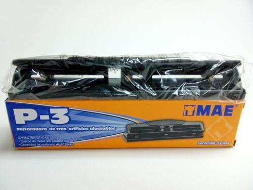 perforadora de 3 huecos ajustables mae® (x2 unidades)