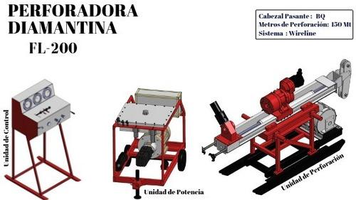 perforadora diamantina fl-200 *minería,exploración,geología*