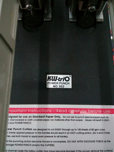 perforadora industrial kw trio 952