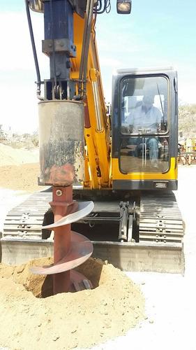 perforadora piloteadora cimentación pilotes