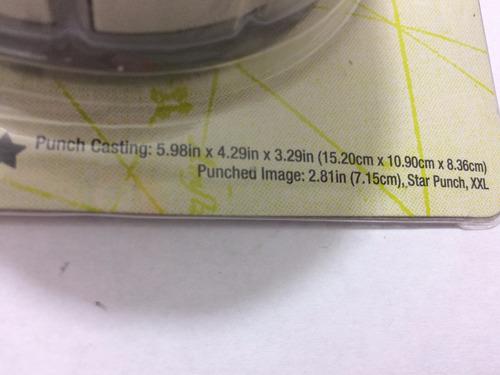 perforadora scrapbook estrella 2.81 pulgadas /  7.15 cm xxl