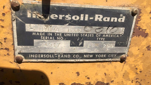 perforadora track drill ingersoll rand ecm250 año 1990