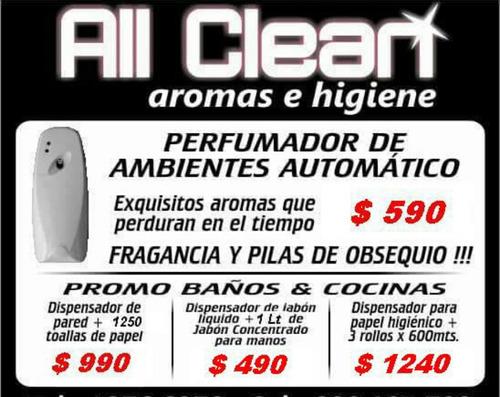 perfumador aromatizador automático lata y pilas desde 590