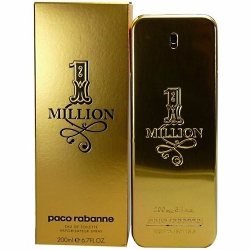 perfume 1 one million masculino eau toilette 200ml. Black Bedroom Furniture Sets. Home Design Ideas