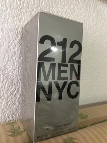 perfume 212 carolina herrera original hombre 100ml