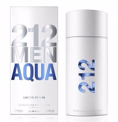 perfume 212 men aqua by carolina herrera 100 ml