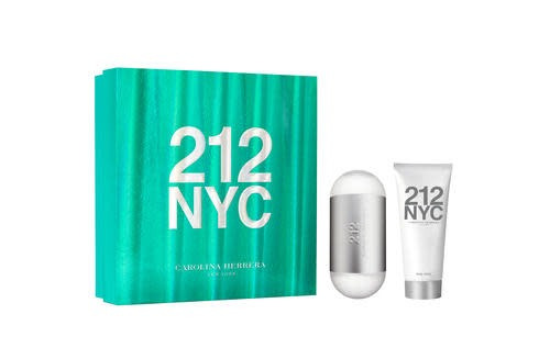 perfume 212 nyc mujer cofre edt 100ml + crema corporal