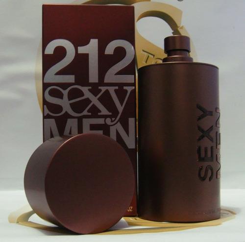 perfume 212 sexy men carolina herrera 100ml importado