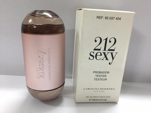 perfume 212 sexy woman edp x100 ch tester original