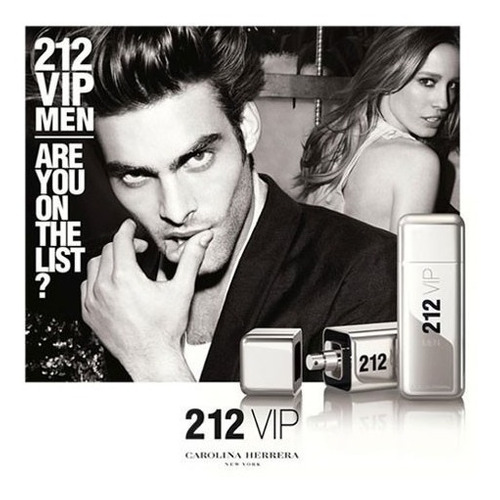 perfume 212 vip by carolina herrera garantia 30 dias.