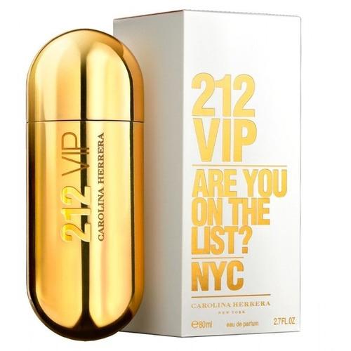 perfume 212 vip carolina herrera 80ml -  100% original