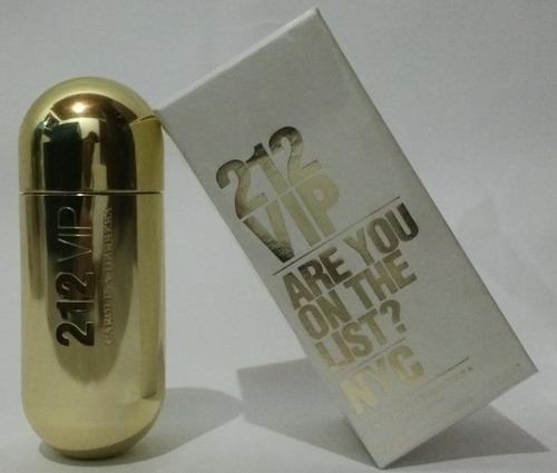 perfume 212 vip carolina herrera mujer - ml a $1999
