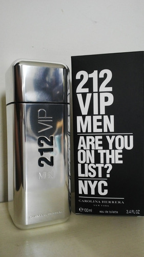 perfume 212 vip men 100% original gara - ml a $1490
