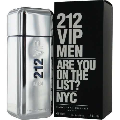 perfume 212 vip men carolina herrera 100ml frete grátis