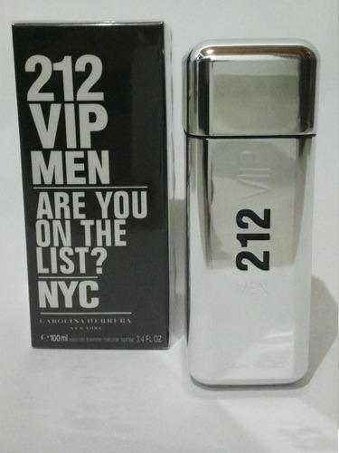 perfume 212 vip men carolina herrera o - ml a $1490