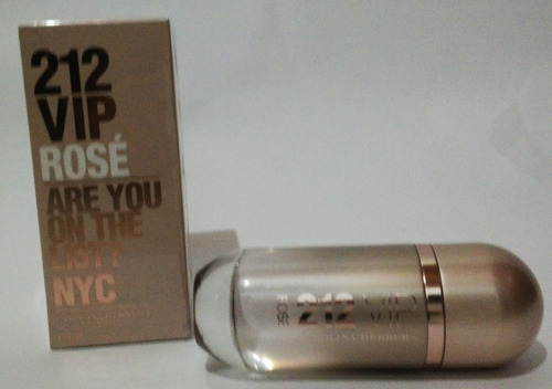 perfume 212 vip rose carolina herrera - ml a $1999