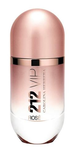perfume 212 vip rose edp 125ml + brinde - 100% original