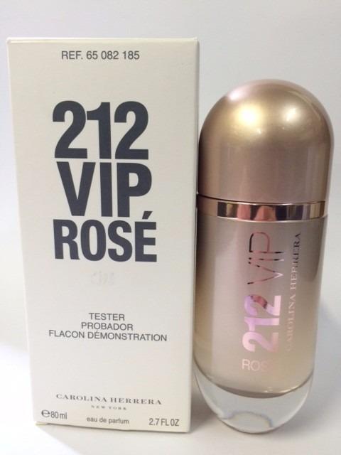 135e109b3 Perfume 212 Vip Rosé Edp 80ml Feminino   Tester Original - R$ 277,99 ...
