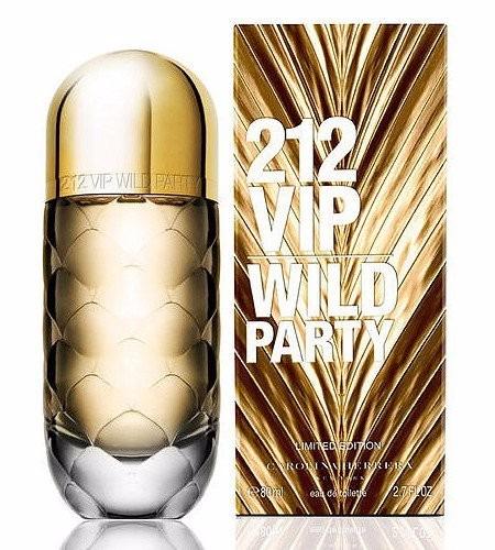 perfume 212 vip women wild party by carolina herrera 80 ml
