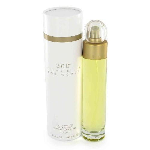 perfume 360 tradicional de perry ellis mujer 100 ml original