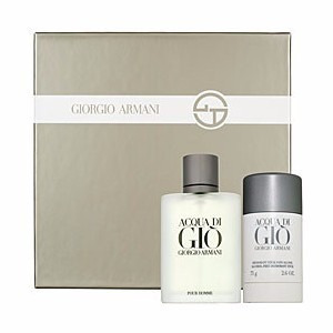perfume acqua di gio men set x 2 incluye desodorante