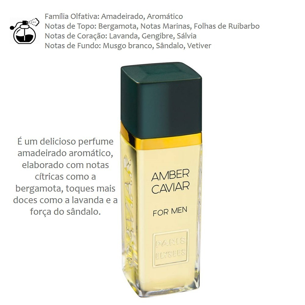 787687daa perfume amber caviar for men paris elysees. Carregando zoom.