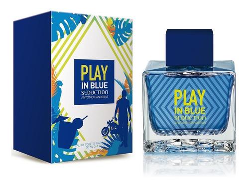 perfume antonio banderas play in blue seduction 100 ml men