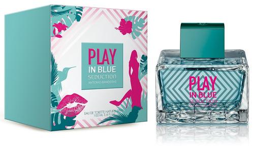 perfume antonio banderas play in blue seduction 80 ml dama