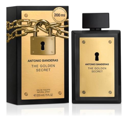 perfume antonio banderas the golden secret masculino 200ml