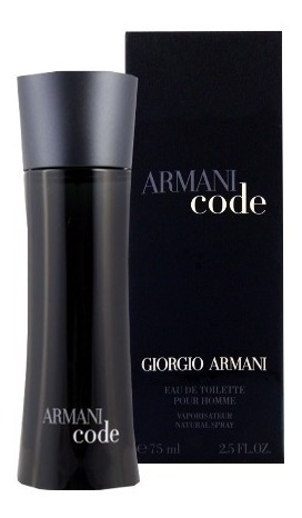 perfume armani code 75 ml men