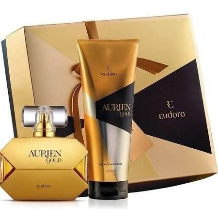 perfume aurien gold 100 ml+hidratante iluminador 200 ml