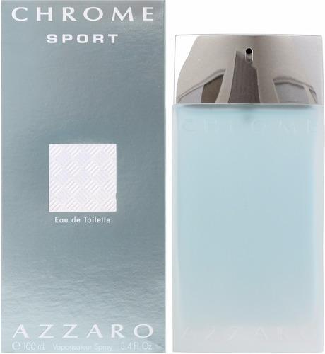 perfume azzaro chrome sport hombre 3.4oz 100ml fragancia