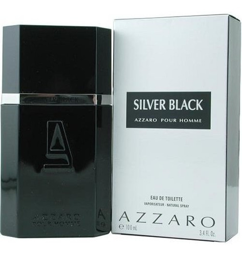 perfume azzaro silver black 100ml - original / lacrado