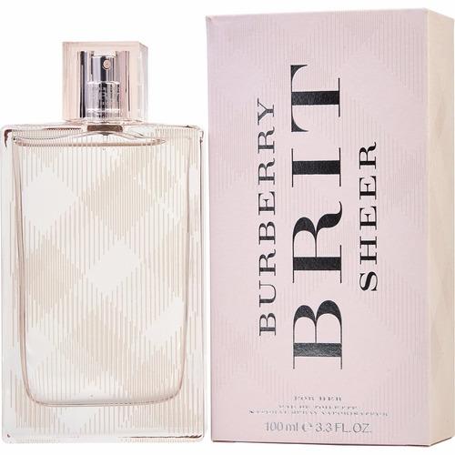 perfume bburrberry brit sheer edp 100 ml dama original