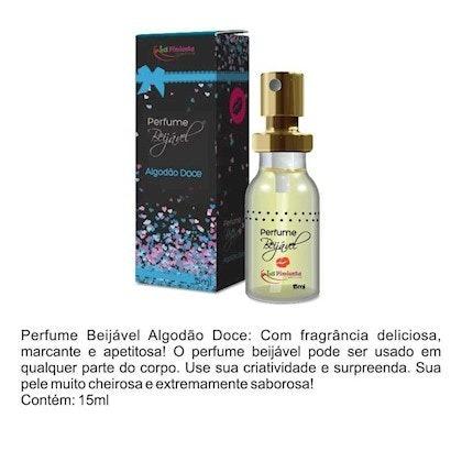perfume beijável 15ml - algodão doce