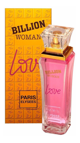 perfume billion love feminino 100ml paris elysees