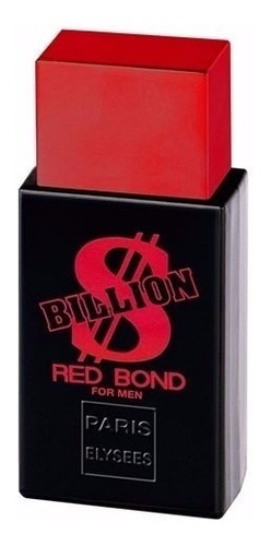 perfume billion $ red bond paris elysees 100ml - lançamento