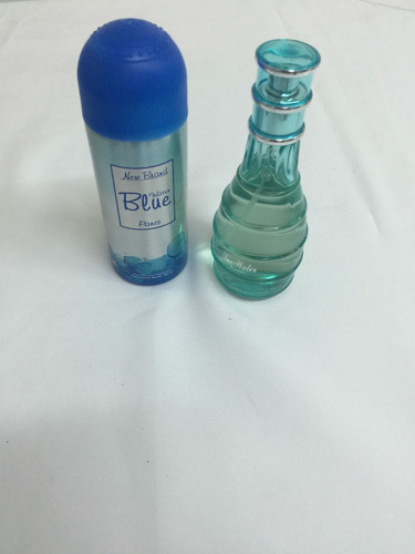 perfume blue water 100 ml + desodorante new brand