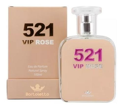 perfume bortoletto 521 vip rose - inspirado no 212 vip rose