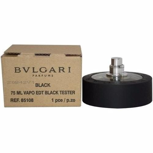 perfume bvlgari black 75ml unisex edt original (( tester ))