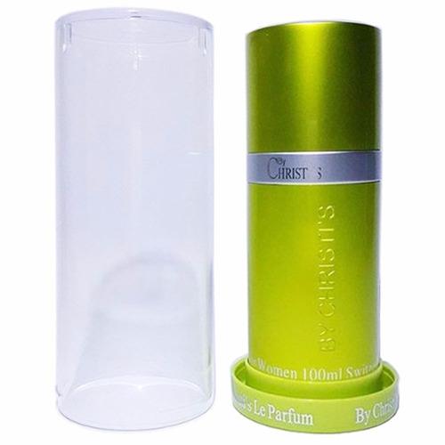 perfume by christi's verde green mujer 100ml dama nuevo