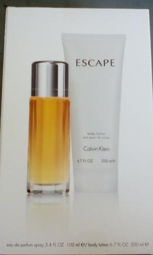 perfume calvin klein escape +body lotion 6.7 onzas