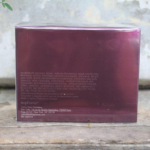 perfume calvin klein euphoria fem edp 50ml selo adipec + nf