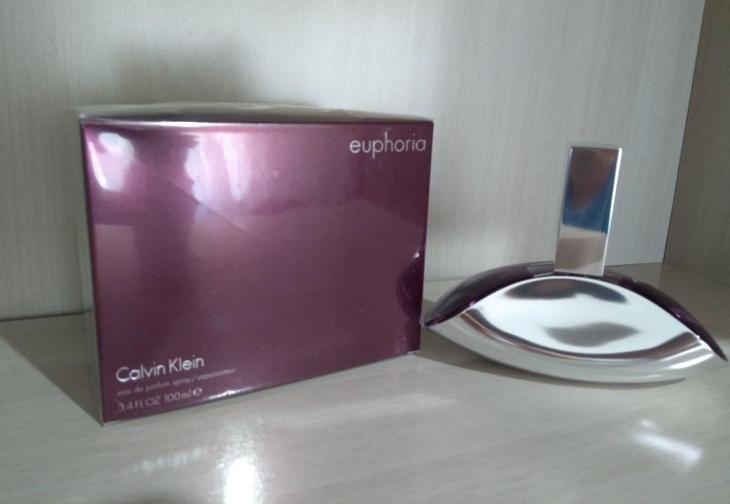 ceab2c2bc6621 Perfume Euphoria Calvin Klein Feminino 100ml - 100% Original - R  224