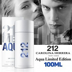 perfume carolina herrera 212 men aqua 100ml / 3.4oz